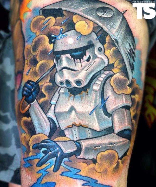amazing Storm Trooper tattoo by Scotty Munster