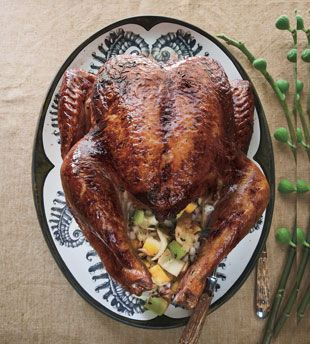 Salt-Roasted Turkey with Lemon and Oregano: Recipe: bonappetit.com. My all-time favorite turkey recipe! I omit the oregano.  The rub flavors the turkey, and it makes the BEST EVER gravy!