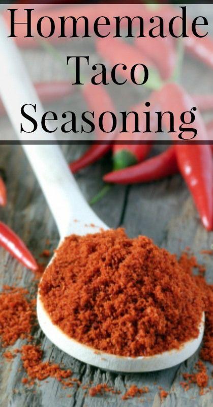 Easy Homemade Taco Seasoning  {Real Food, Traditional Foods, Paleo, Primal, Vegetarian} #homemadetacoseasoning #paleotacoseasoning