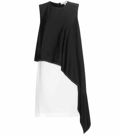 Двухцветный асимметричный драпированные платья    Ванесса Бруно