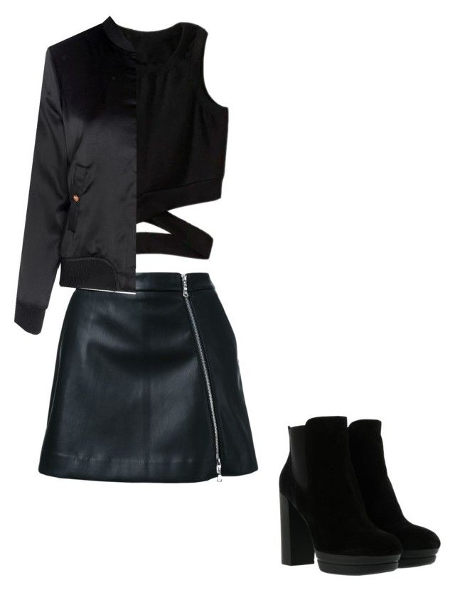 """Untitled #11"" by raven-blackk on Polyvore featuring Guild Prime, Glamorous and Hogan"