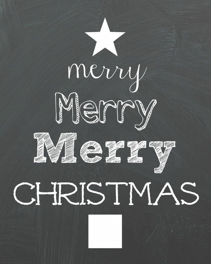 Merry Christmas Printable - Organize and Decorate Everything