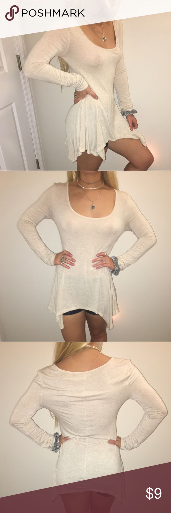 Cream Long Sleeve Top Flowy cream long sleeve top Zenana Outfitters Tops Blouses