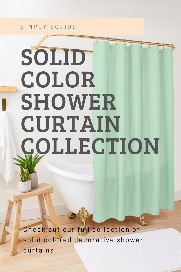 Simplysolid Shop In 2020 Solid Color Shower Curtain Shower