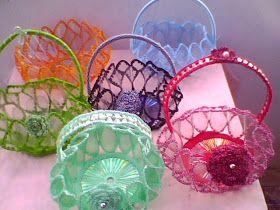Beautiful bottle baskets