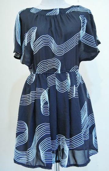 Round She Goes - Market Place - JAPANESE VINTAGE DRESS