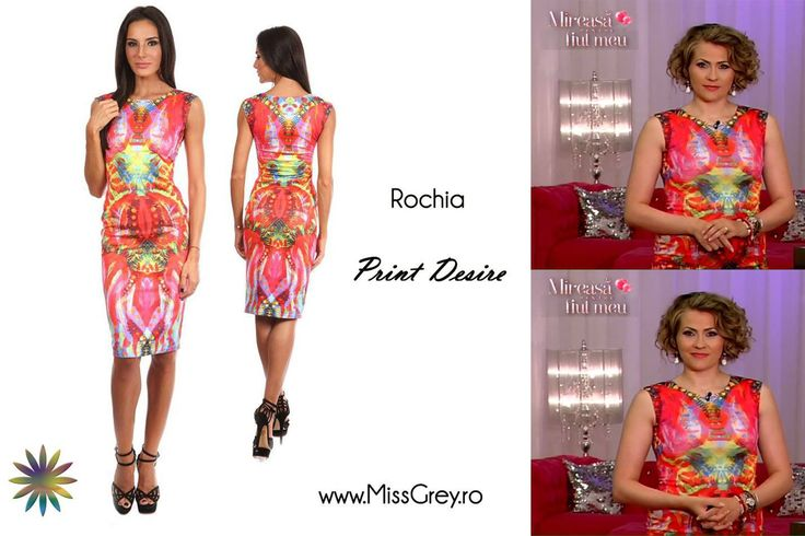 Lovely Mirela Vaida chose to wear our beautiful summer dress with abstract print! Where would you wear it, this summer? https://missgrey.ro/ro/rochii/rochie-print-desire/154?utm_campaign=mai_vaida&utm_medium=print_desire&utm_source=pinterest_produs