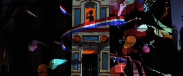 Video 3D-projectie geschiedenis Breda op Kasteelplein