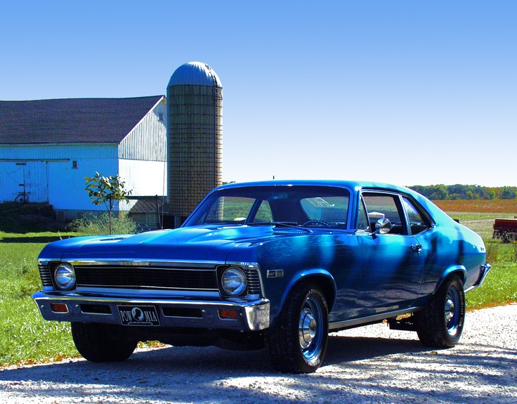 I also had a faded blue Chevy Nova just like this, with no carpeting! car #2