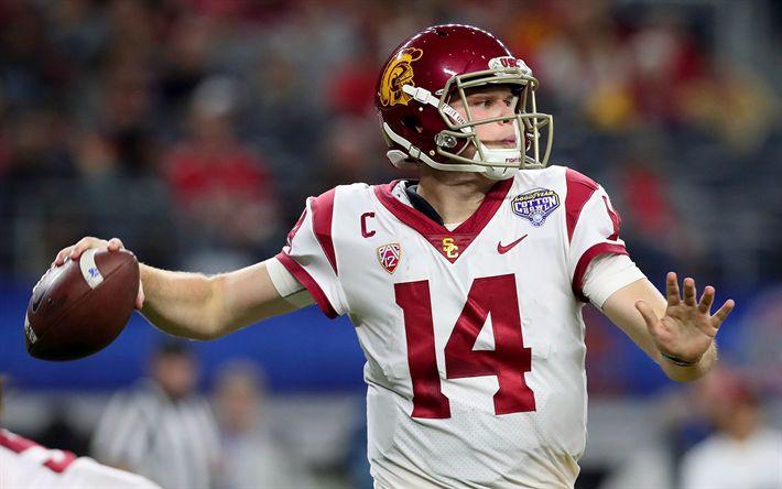 Download wallpapers Sam Darnold, Quarterback, 2018 NFL Draft, National Football League, American Football, USA