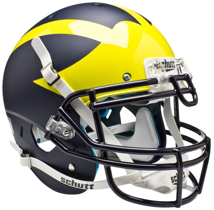 Michigan Wolverines Authentic Schutt XP Full Size Helmet - Matte Blue