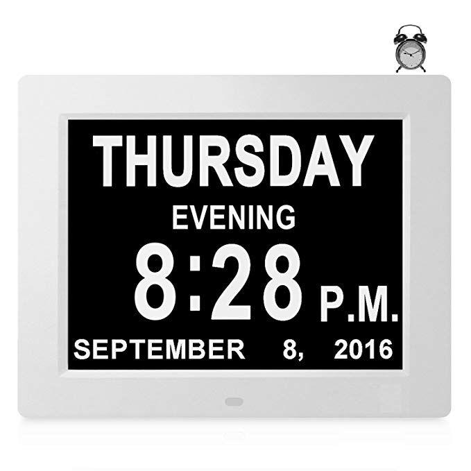 8 Alarms Large Day Date Clock Digital Calendar For Memory Loss