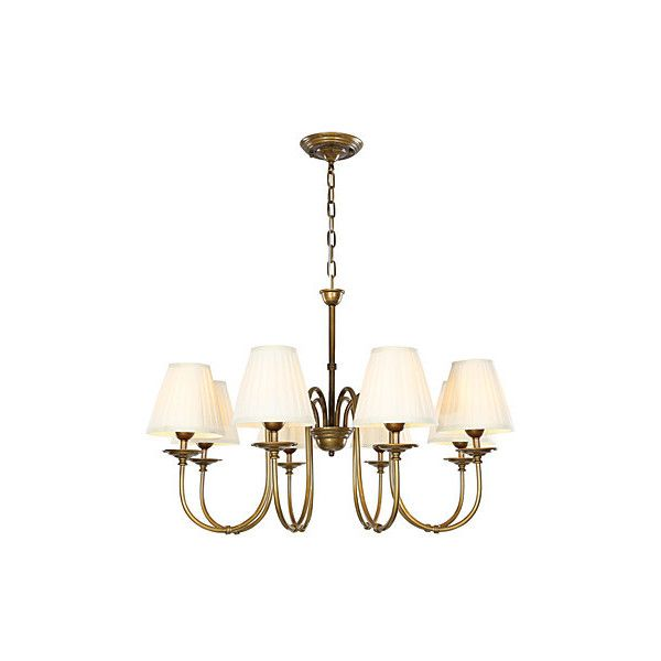 8 Light 33 inch Ceiling Light Fixture, White Shade ($260) ❤ liked on Polyvore featuring home, lighting, ceiling lights, array0x12d5a858 and t8 light
