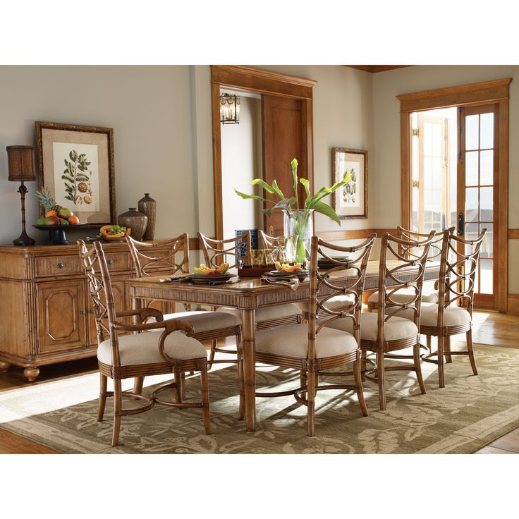 Tommy Bahama By Lexington Home Brands Beach House 9 Piece Boca Grande Dining Set