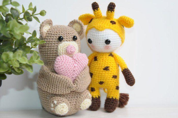 Amigurumi doll in giraffe costume - free pattern