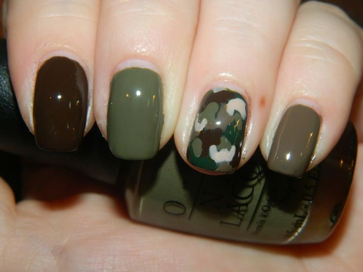 camo nails | Camo Nails!