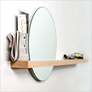 rise and set mirror - but with an IKEA KOLJA mirror for $15