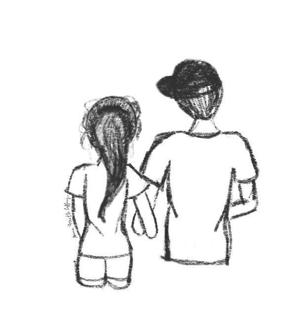 Me You Boy And Girl Sketch Boy And Girl Drawing Girl Sketch