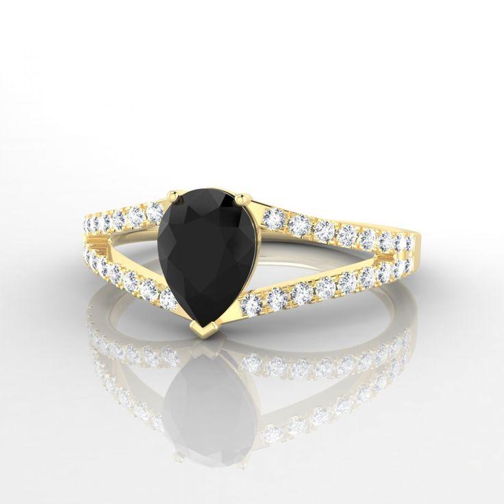 Super Les 25 meilleures idées de la catégorie Bagues en diamant noir sur  XH44