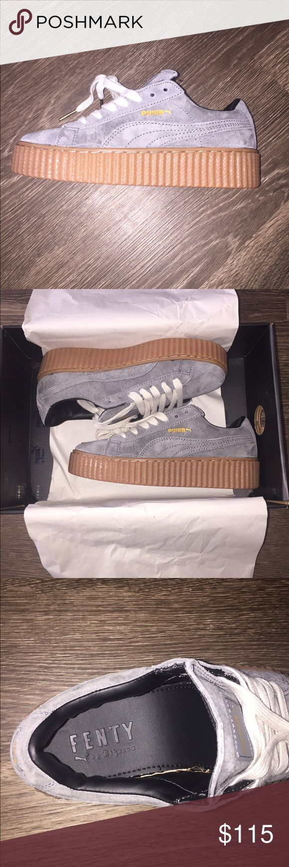 Brand new Fenty Puma Creepers gray suede I bought these shoes online but they send me the wrong size. Size is women's 4.5 Puma Shoes Sneakers