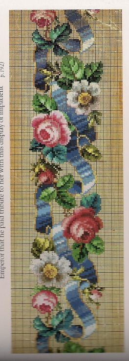 Berlin Woolwork Border - Roses and Ribbon