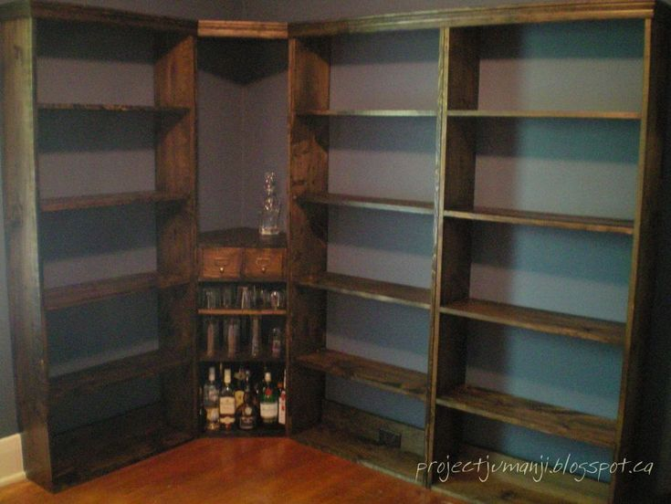 Homemade bookshelves, from scratch