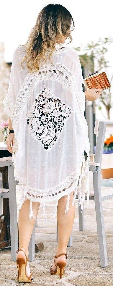 White Lace Kimono Source