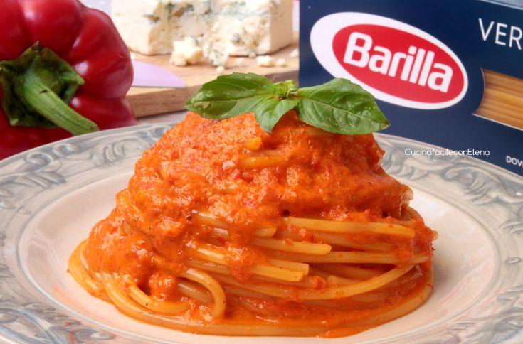 La Pasta Indiavolata è una ricetta davvero favolosa, realizzata con un pesto cremoso al peperone e gorgonzola, non fatevi ingannare dal nome, è paradisiaca!
