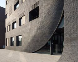 wise architecture conceives MU:M office building like an owl's nest in south korea