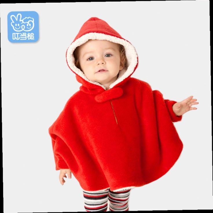 48.93$  Buy here - http://alifin.worldwells.pw/go.php?t=32542990478 - girls winter coat Baby cloak children cloak Christmas gift tok tic kids abrigos y chaquetas 48.93$
