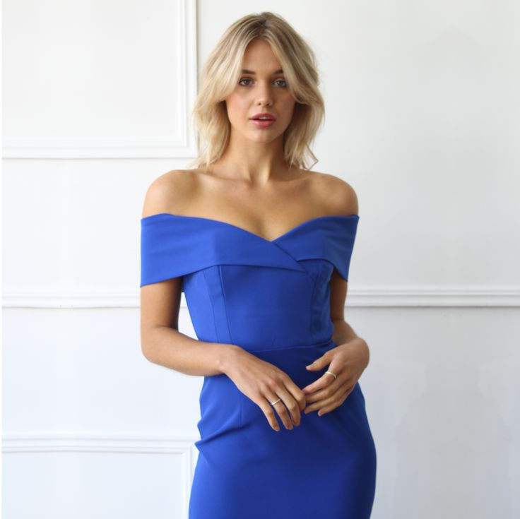 Unspoken - Alexa Dress in Cobalt // Available to hire in size 8 for $89