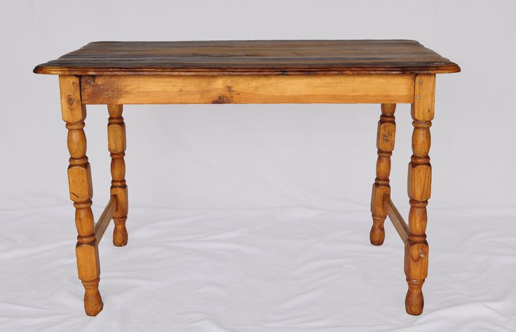 Cottage lightwood table: tables like these were typically made with a scalloped top, of more or less the same size and were constituted from a variety of woods, most commonly Kiaat.www.northcliffantiques.com #AntiqueShops #Johannesburg #Tables #Cottage #Country #Furniture