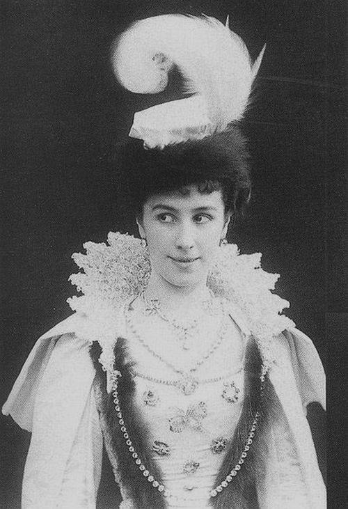 Mathilde Kshessinskaya, Nicholas II's mistress before he married Alix of Hesse, Prima ballerina of the St. Petersburg Imperial Theatres.