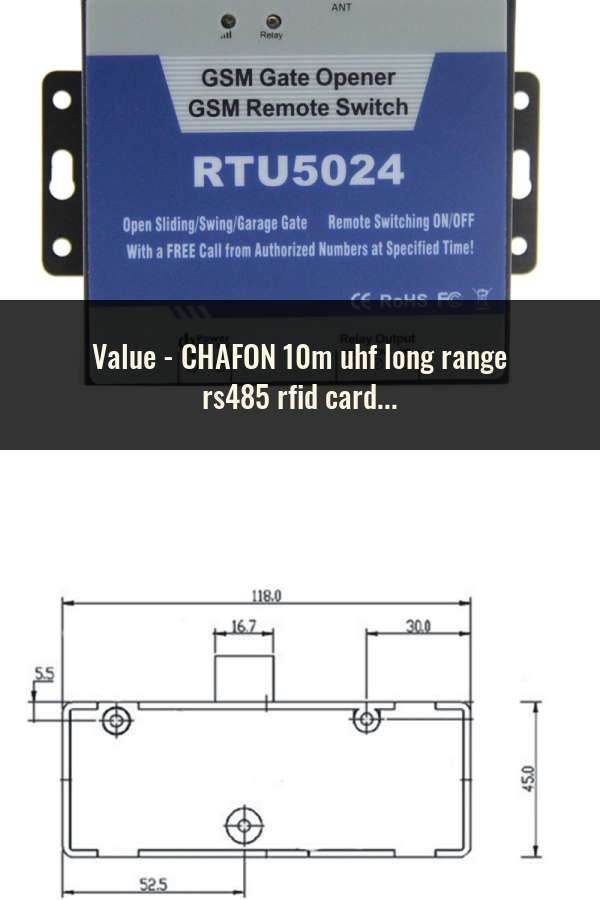 CHAFON 10m uhf long range rs485 rfid card reader writer provide free