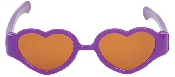 Cool sunglasses for a cool doll!  These cool sunglasses will protect your doll's eyes when she's in the sun.
