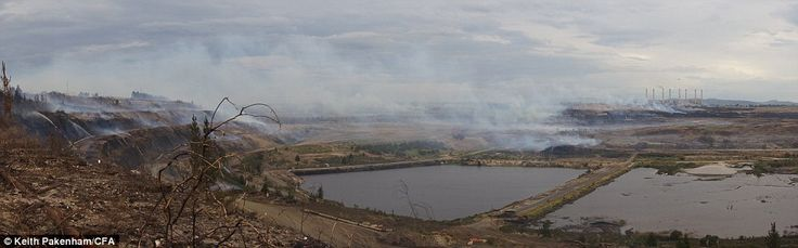 Wide angle: Smoke drifts over the Hazelwood coal mine, causing a health hazard to the nearby community