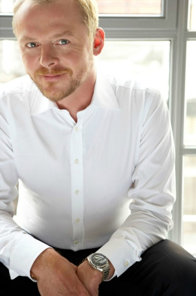 """Simon Pegg - I got to see him work on """"Hector and the Search for Happiness."""""""