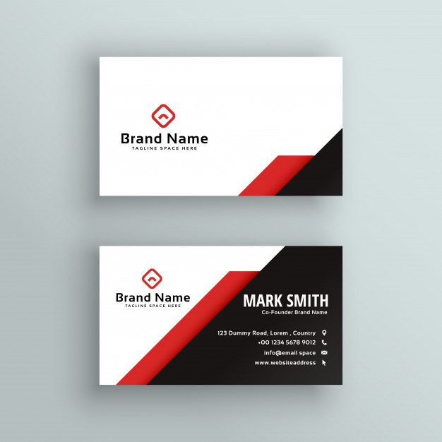 Professional Red And Black Business Card Design Free Vector Business Card Design Black Free Business Card Design Business Card Design