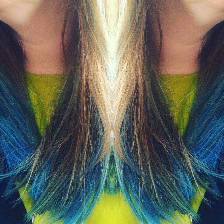 #rainbowhair olaplex Kolorowe włosy  Blue ombre
