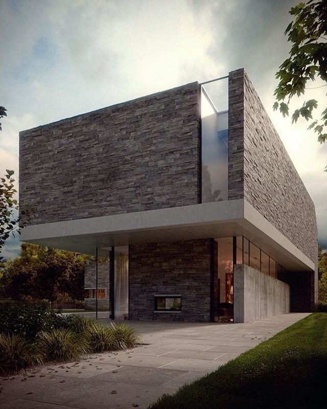 Love this design! The concrete and stone combo is perfect!! Project by: Erick Figueira #homedesign #lifestyle #style #designporn #interiors #decorating #interiordesign #interiordecor #architecture #landscapedesign