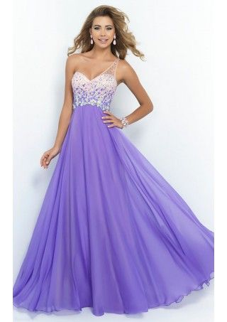 Miraculous Floor-Length One Shoulder Beading Dress