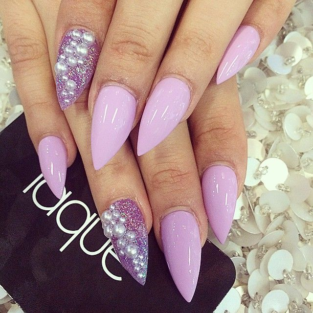 25+ Best Ideas About Purple Stiletto Nails On Pinterest