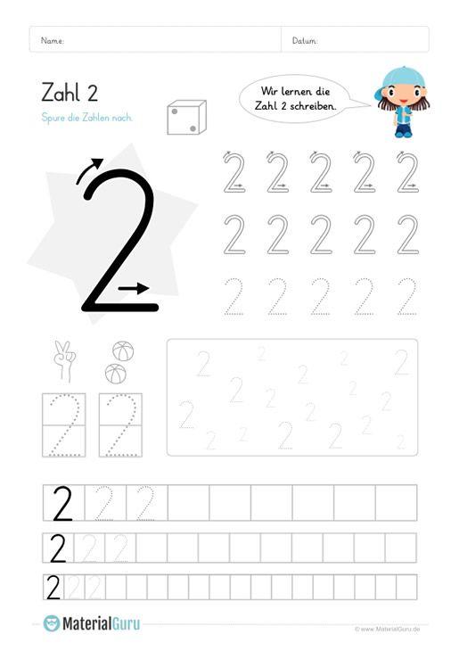 Zahlen kennenlernen kindergarten