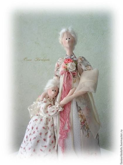 """hecha a mano muñecas Tilda.  composición textil """"Bajo el ala de mi madre."""".  Olga Bochkareva.  Masters justas.  Comprar un regalo"""