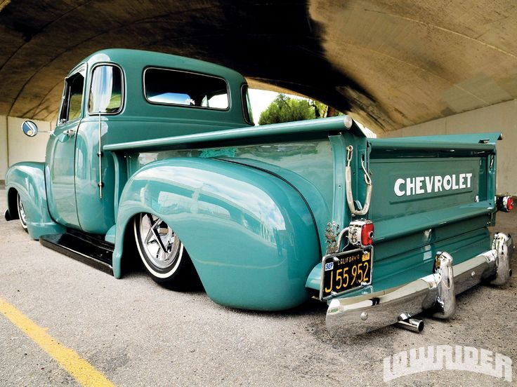 1952 Chevy Truck Lowered Pickup Lowride HD Wallpaper