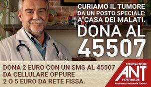"""Fondazione ANT Italia Onlus, nata nel 1978 per iniziativa dell'oncologo Franco Pannuti, è il più grande ospedale gratuito a domicilio in Italia, fornisce assistenza ai malati di tumore e organizza attività di prevenzione oncologica. La sua missione si ispira all'Eubiosia (dal greco antico """"la buona vita"""") perché la dignità della vita va preservata anche durante la malattia e fino all'ultimo istante di vita. Dal 1985 la Fondazione ANT ha portato nelle case di oltre 100.000 Malati di tumore…"""