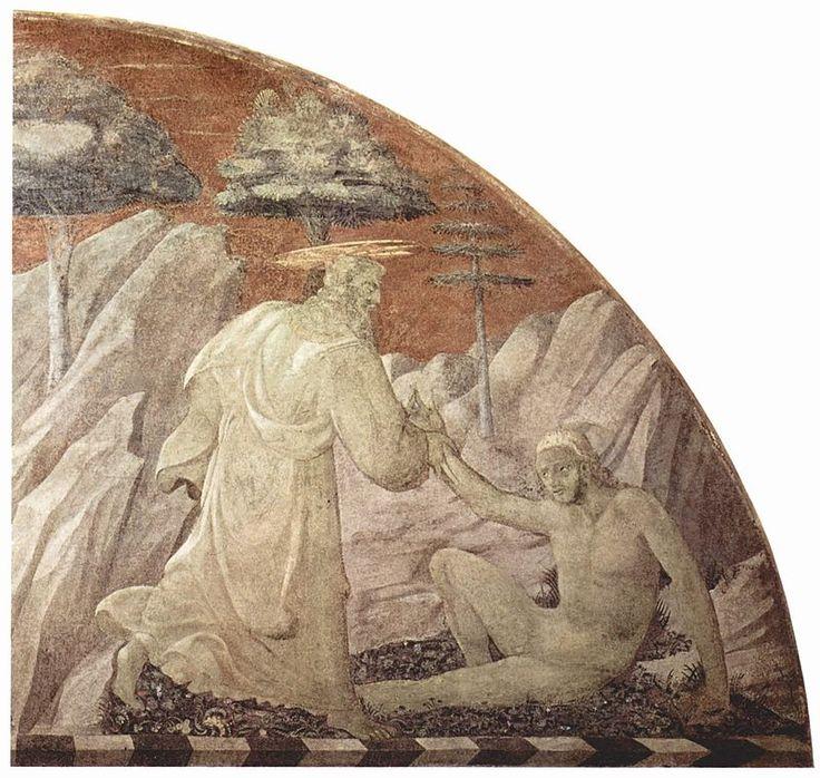 Paolo Uccello - Creazione di Adamo - 1425-1430 - Chiostro Verde - Museo di Santa Maria Novella, Firenze