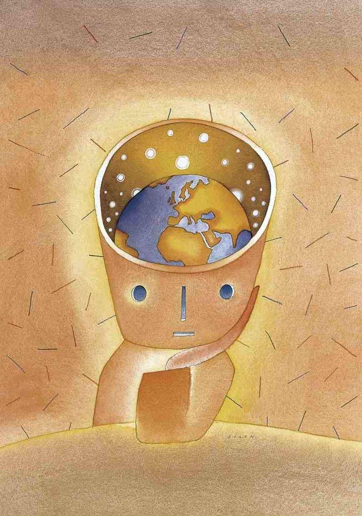 Un Monde, by Jean-Michel Folon