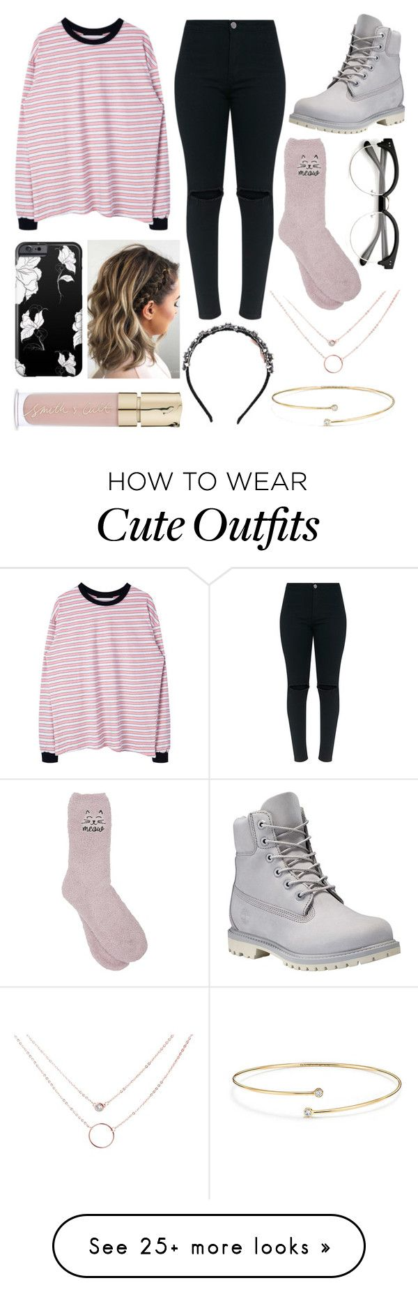 """""""Outfit #314"""" by selffandom on Polyvore featuring Timberland, M&Co, N°21, Smith & Cult and Elsa Peretti"""