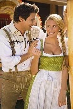 While people don't necessarily wear the Lederhosen and Drindl all the time, people (read women) do look extra sexy wearing them.